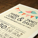 Whimsical Lovebirds Invitation Detail