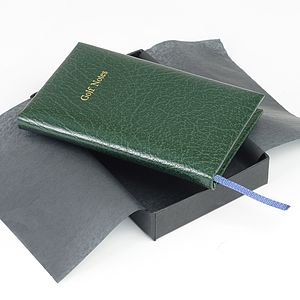 Pocket Leather Golf Score Book - writing