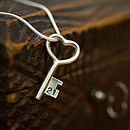 Personalised 21st Silver Key Necklace