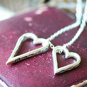 Family Heart Charms Necklace - necklaces & pendants