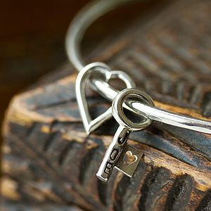 Personalised Key To My Heart Bangle