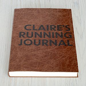 Personalised Poster Print Leather Journal