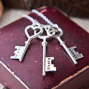 Personalised Silver Keys Necklace