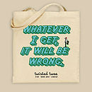 'Wrong' Man Bag