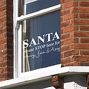 Personalised Santa Stop Here Wall Sticker