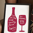 French Wine Kitchen Print