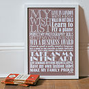 Personalised Wishes Print