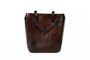 Carla Leather Handbag - shopper bags