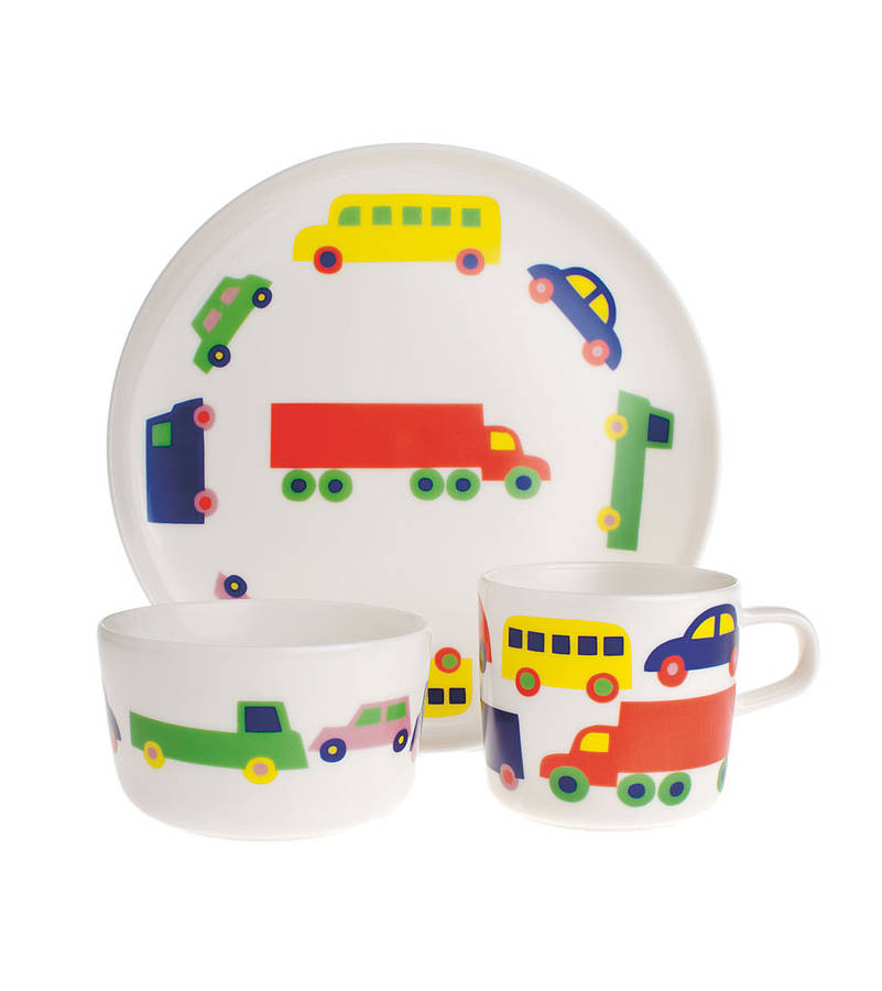 kids plate cup and bowl dining set by little baby company. Black Bedroom Furniture Sets. Home Design Ideas