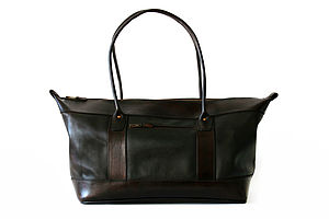 Billy Leather Holdall - travel & luggage
