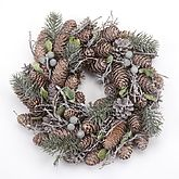 Christmas Pinecone Wreath - christmas decorations