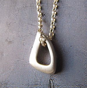 Infinity Triangle Necklace - necklaces & pendants