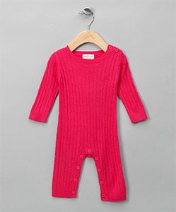 Cable Knit Bodysuit Bright Pink