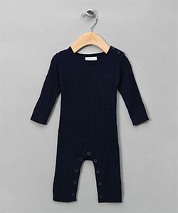 Cable Knit Bodysuit Navy