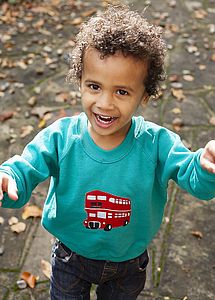 Children's London Bus Sweatshirt