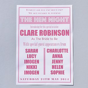 Hen Party Poster - outdoor decorations