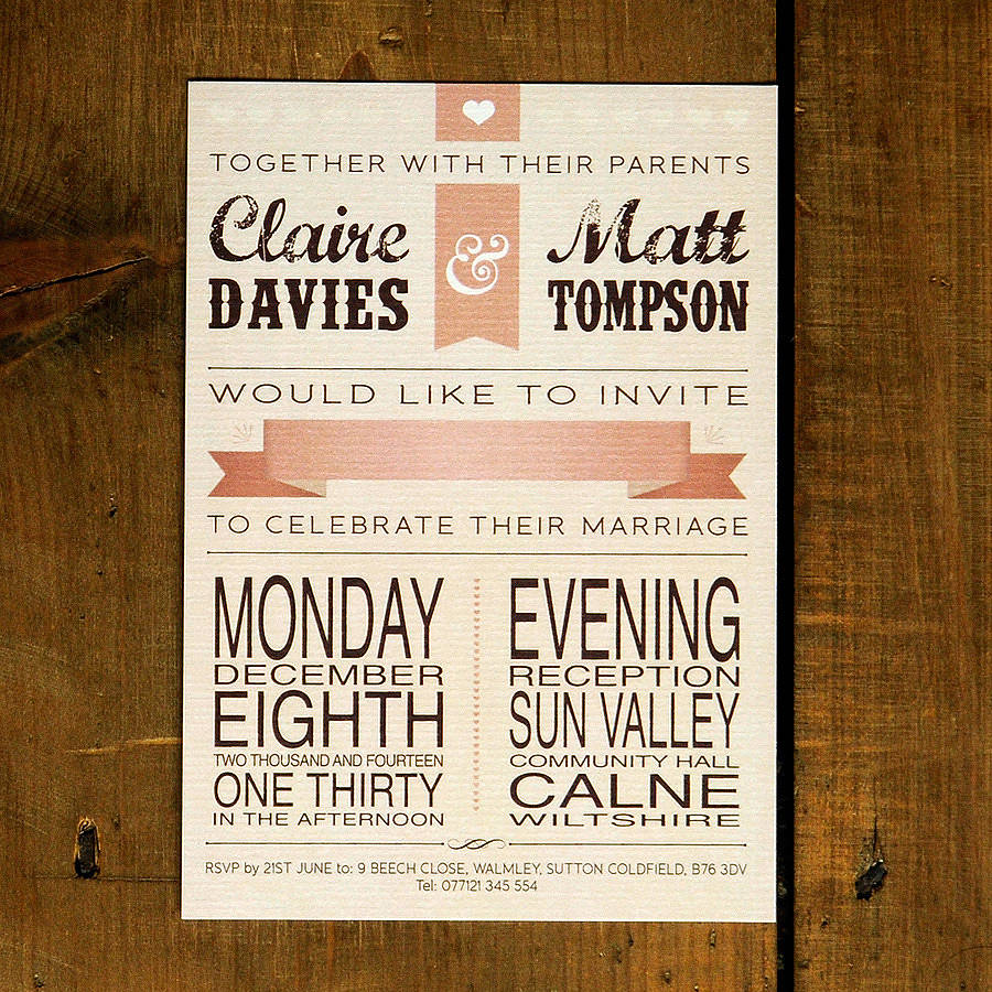 Vintage Wedding Invite: Vintage Poster Wedding Invitation By Feel Good Wedding