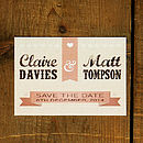 Vintage Poster Save the Date Card