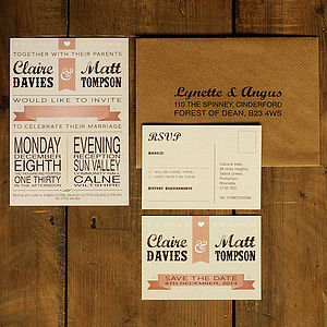 Vintage Poster Wedding Invitation - save the date cards