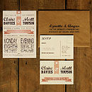 Vintage Poster Wedding Invitation