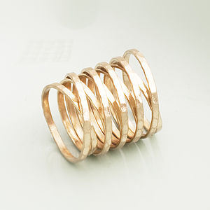 Cara Coil Ring In Gold Or Silver - for the style-savvy