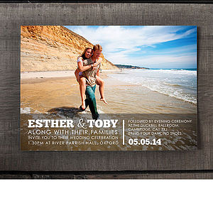 Engagement Photo Wedding Invitation - invitations