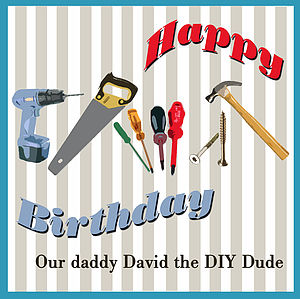 Men's Personalised D.I.Y Card