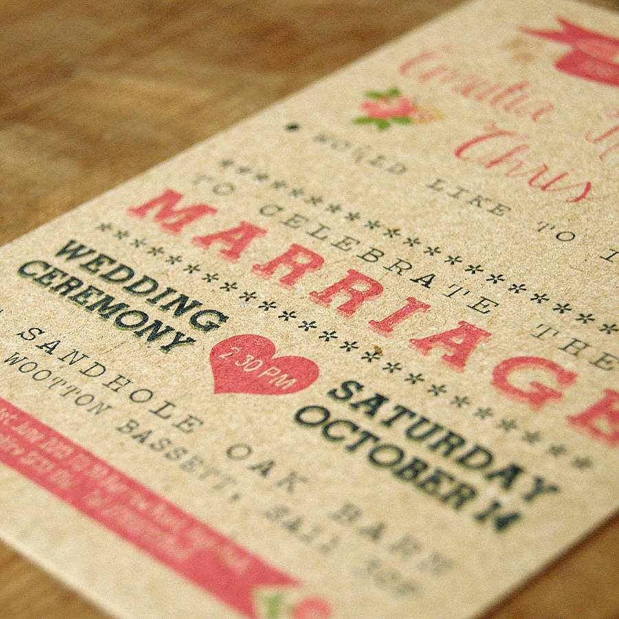 Vintage Wedding Invitations: Vintage Country Kraft Wedding Invitation By Feel Good
