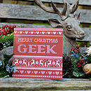 'Merry Christmas Geek' Christmas Card