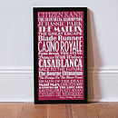 Large red Personalised Top Twenty Films Print