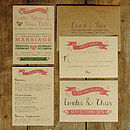 Vintage Country Kraft Wedding Invitation Suite