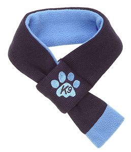 Blue Doggy Scarf - dogs