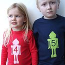Birthday Robot T Shirt With Long Sleeves
