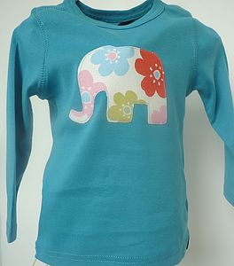 Elephant Long Sleeve Organic T Shirt - t-shirts & tops