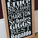 Small Personalised Football Dream Team Print