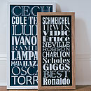 Small black and large navy blue Personalised Dream Team Print
