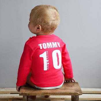 Personalised Football T Shirt Red