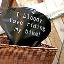 'I Bloody Love ' Bike Seat Rain Cover