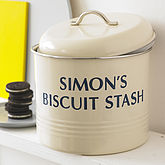 Personalised Biscuit Barrel - corporate gifts