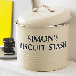 Personalised Biscuit Barrel - last-minute christmas gifts for him