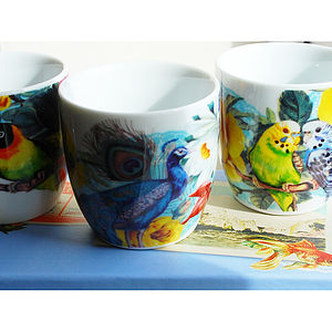 Exotic Birds Tealight Holders - dining room