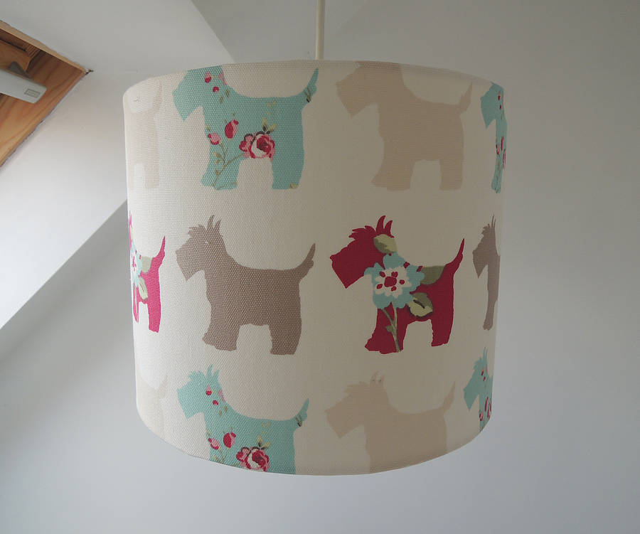 Handmade scottie dog fabric lampshade by the shabby shade handmade scottie dog fabric lampshade aloadofball Gallery