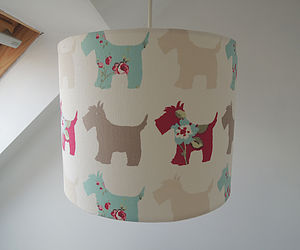 Handmade Scottie Dog Fabric Lampshade