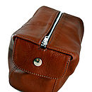 Tan Hand Crafted Leather Wash Bag