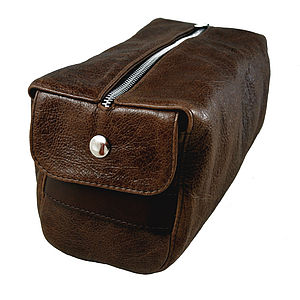 Rustic Brown Wash Bag