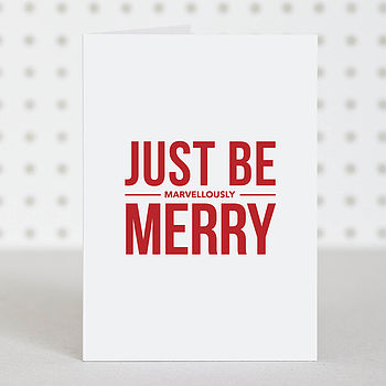 'Marvellously Merry' Christmas Card