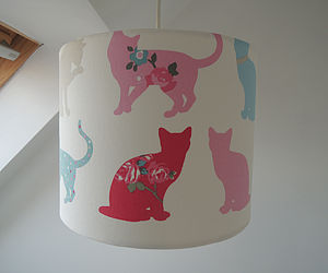 Handmade Felix Cat Fabric Lampshade