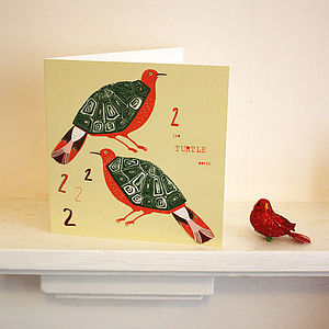 Two Turtle Doves Card - cards & wrap