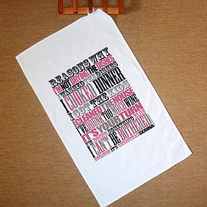 Personalised Tea Towel Create Your Own, We Design It - kitchen accessories