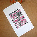 Personalised Tea Towel Create Your Own, We Design It